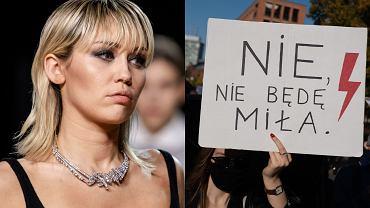 """Miley Cyrus wsparła protestujące Polki na Instagramie! """"Tysiące maszerują w Polsce w obronie obronie praw człowieka"""""""