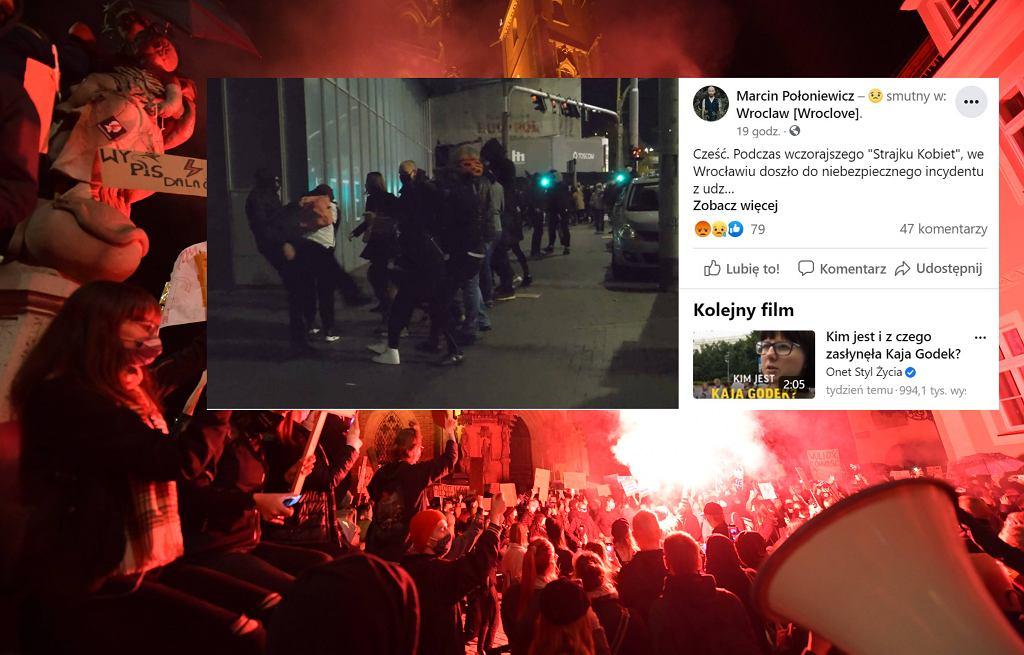 Protest we Wrocławiu.