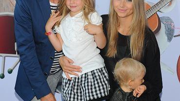Agata i Piotr Rubik z córkami