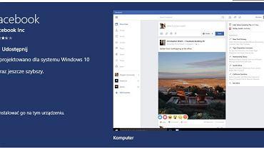 Użytkownicy Windows 10 mogą korzystać z Facebooka i Messengera jako aplikacji