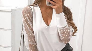 bluzki z siatką