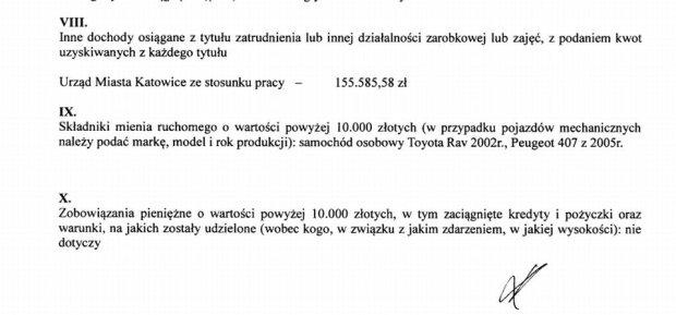 Oświadczenie majątkowe prezydenta Katowic, Marcina Krupy