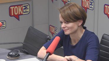 Jadwiga Emilewicz w studiu TOK FM.