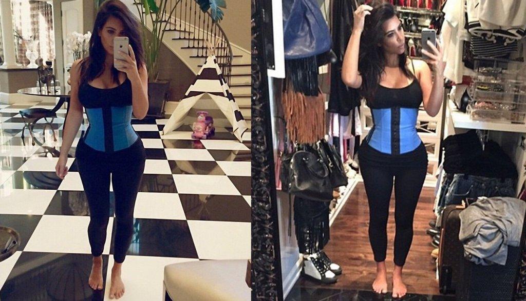Kim Kardashian w waist trainerze