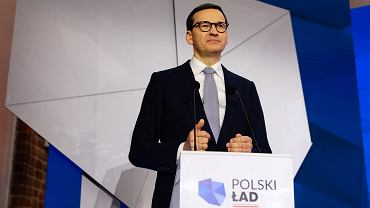 Premier Mateusz Morawiecki podczas konferencji