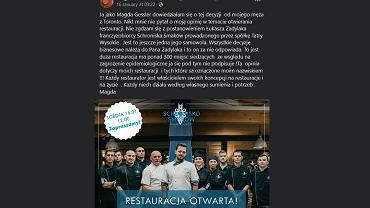 Restauracja Magdy Gessler otwarta pomimo zakazu. Restauratorka: 'Nie zgadzam się z postanowieniem'