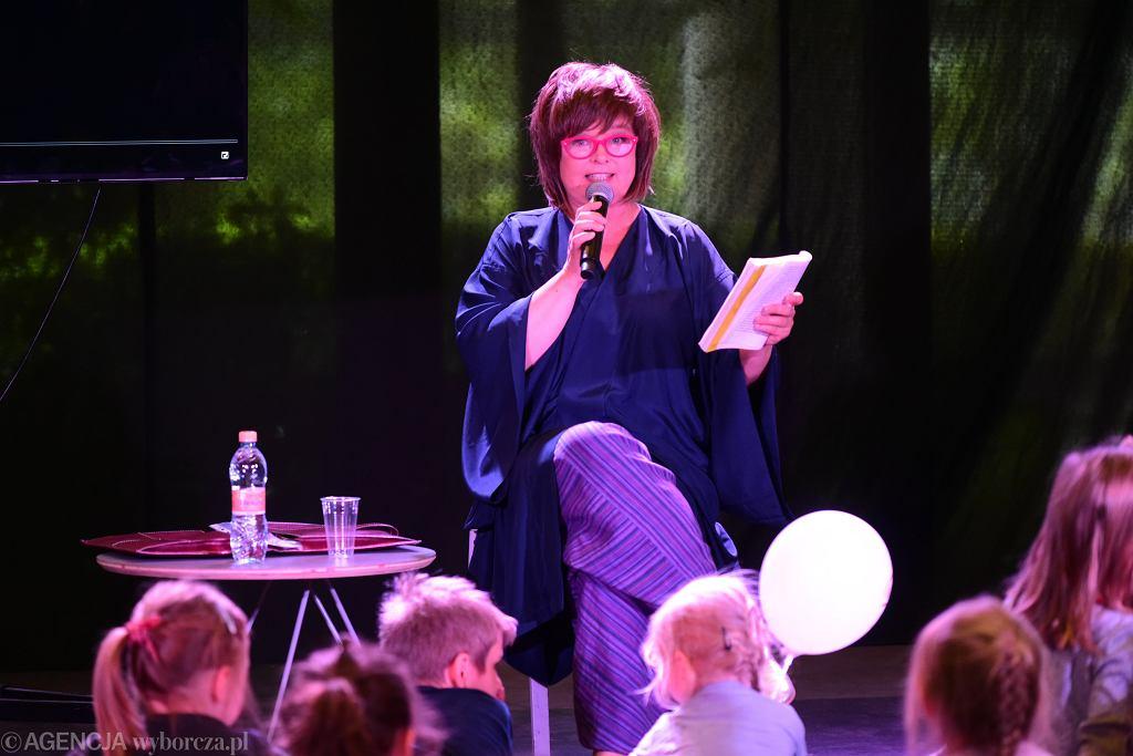 Family Fest w Agorze w Warszawie. Edyta Jungowska zaprosiła dzieci do czytania