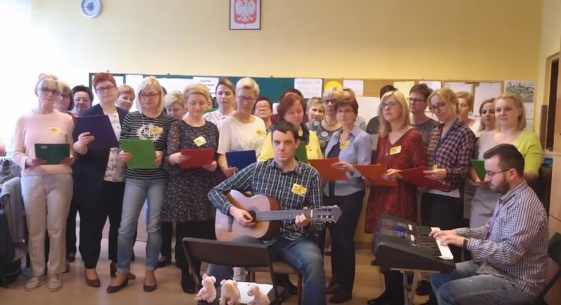 Nauczyciele z Gliwic nagrali piosenkę o strajku