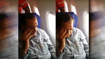 Anonimowa kobieta postanowiła nagrać mężczyznę, który zaczął ją dotykać w samolocie i upubliczniła wideo w sieci