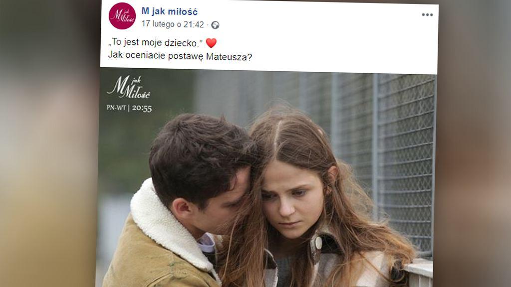 Ciąża Lilki, bohaterki 'M jak miłość' jest wynikiem gwałtu.