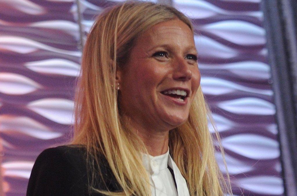 Gwyneth Paltrow na konferencji w Nowym Jorku