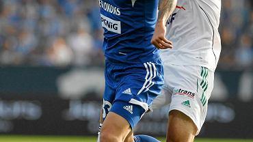 Jan Chovanec (z lewej) w meczu Ruch Chorzów - PGE GKS Bełchatów 0:1