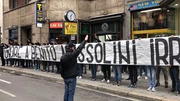Kontrowersyjny transparent kibiców Lazio