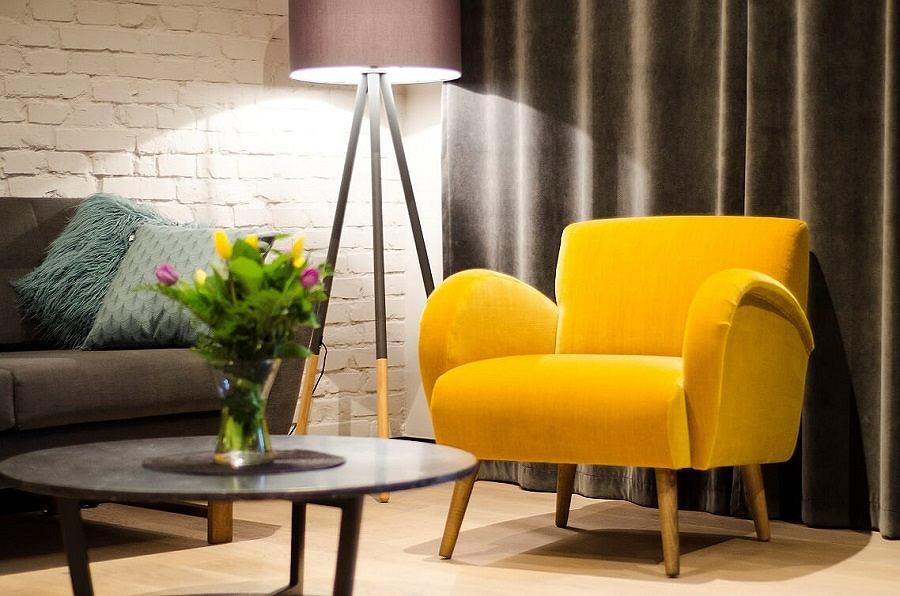Fotel w oryginalnym kolorze ożywi każde wnętrze
