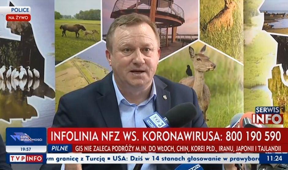Starosta policki Andrzej Bednarek