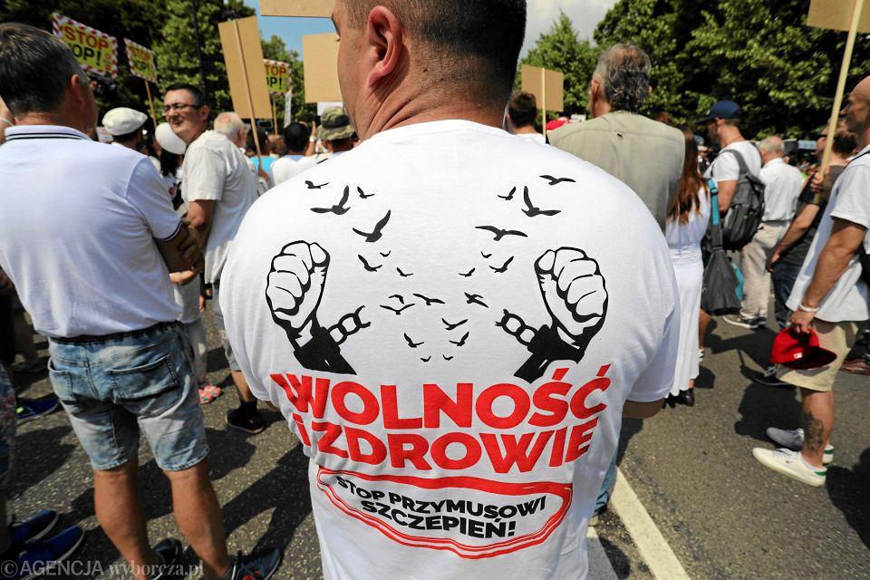 2.06.2018, manifestacja antyszczepionkowców w Warszawie.