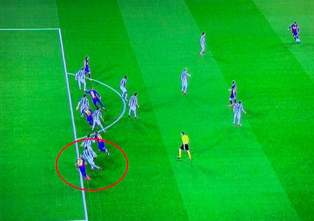 Kontrowersje przy bramce meczu Barcelony z Realem Sociedad