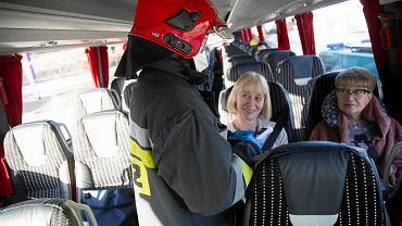 Koronawirus. Budzisko. Przejście graniczne z Litwą. Służby sprawdzają pacjentów przed wjazdem do Polski