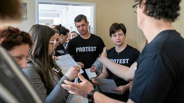 Górnośląskie Centrum Rehabilitacji w Reptach, protest fizjoterapeutów