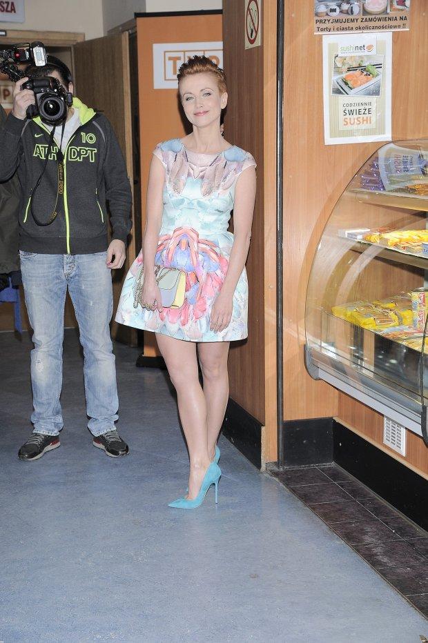 Katarzyna Zielińska w bufecie przed studio