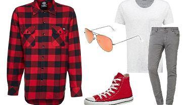 Czerwona koszula w kratę - nie tylko dla drwala