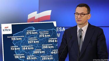 Premier Mateusz Morawiecki ogłasza program budowy dróg
