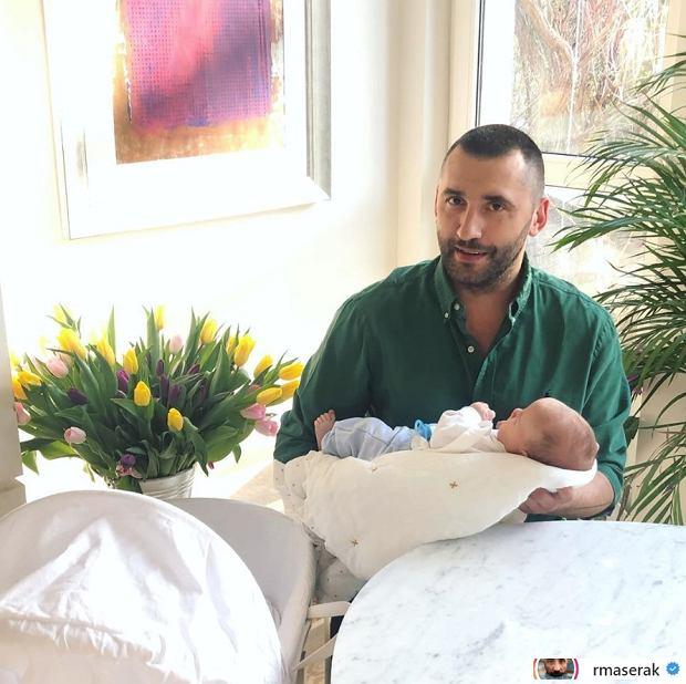 Rafał Maserak z synem