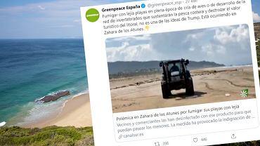W Hiszpanii spryskali plażę wybielaczem