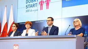 Konferencja prasowa 'Dobry Start' 300 Dla Ucznia w Warszawie