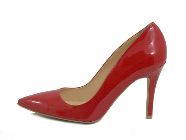 buty, czerwień, szpilki