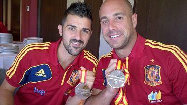 David Villa i Pepe Reina