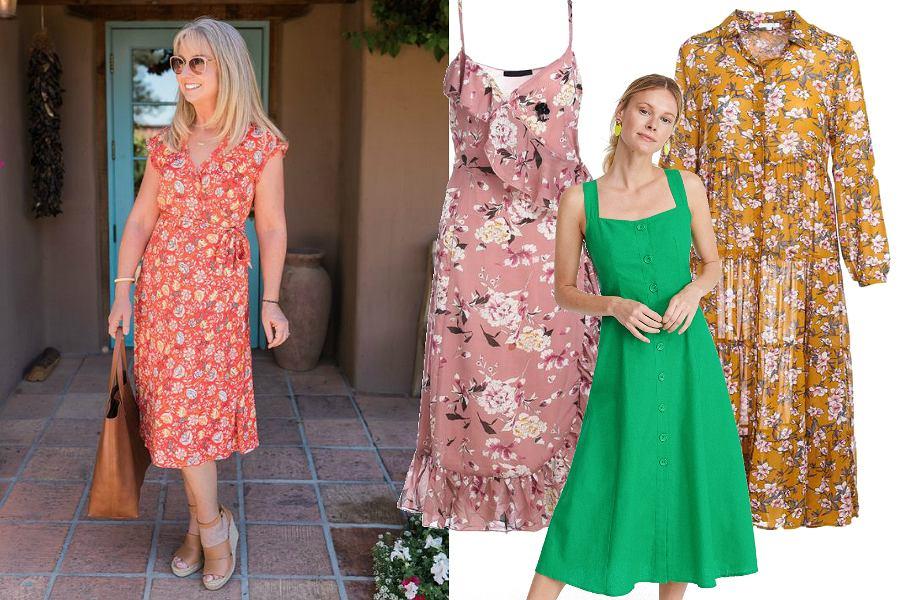Sukienki midi dla dojrzałych kobiet