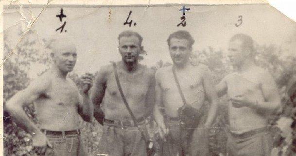Walenty Waśkiewicz 'Strzała', Stanisław Kuchcewicz 'Wiktor', Józef Franczak 'Lalek', Julian Kowalczyk 'Cichy'