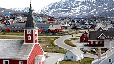 Grenlandia. Stolica wyspy - miasto Nuuk.