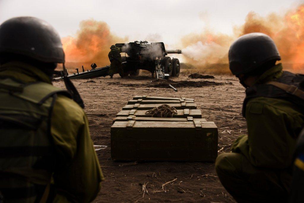 Ćwiczenia wojskowe w Mariupolu