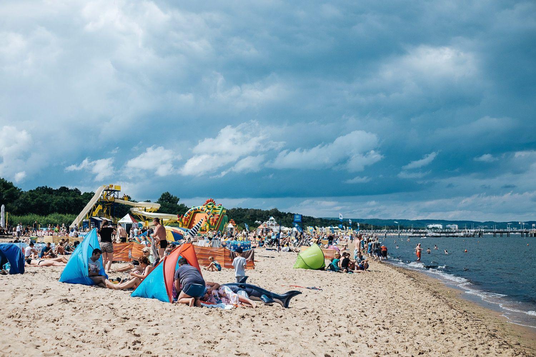 31.07.2016 Gdansk . Parawany na gdanskich plazach .  Fot . Bartosz Banka / Agencja Gazeta