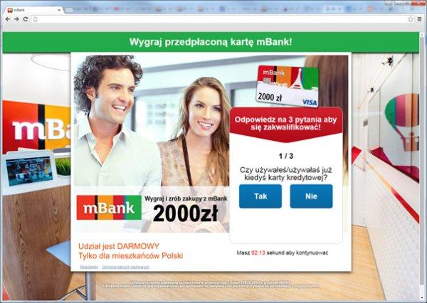 Fałszywy konkurs mBank