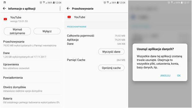 Czyszczenie pamięci cache aplikacji (LG V30 - Android 7.1.2)