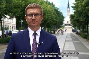 Prezydent Częstochowy apeluje do pielgrzymów