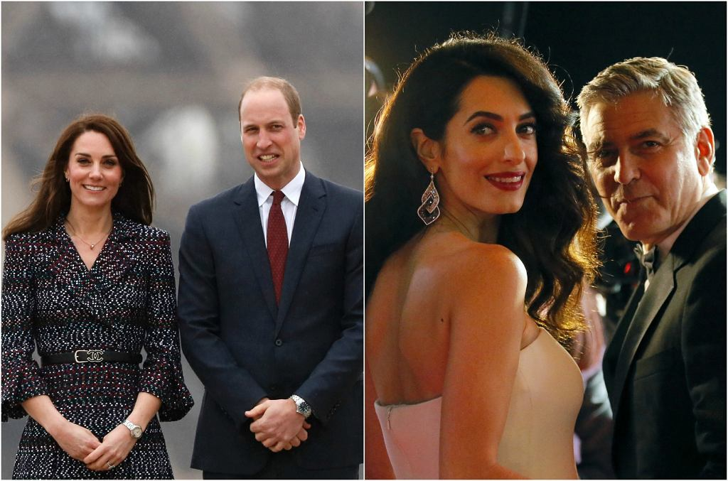 Kate Middleton i książę William, Amal i George Clooney