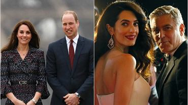 Kate Middleton i książę William, Amal i George Clooney