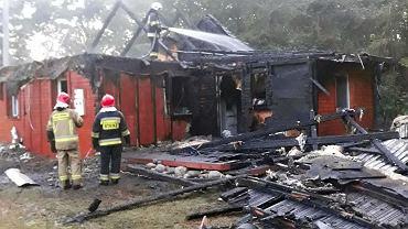 Pożar domu w Antoninie