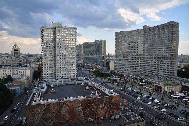 Ulica Nowy Arbat w Moskwie, 23.01.2018
