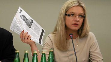 Przewodnicząca komisji śledczej ds. Amber Gold Małgorzata Wassermann (PiS) podczas przesłuchania syna Donalda Tuska świadomie posłużyła się fałszywymi zeznanami drobnego kryminalisty. Warszawa, Sejm, 21 czerwca 2016