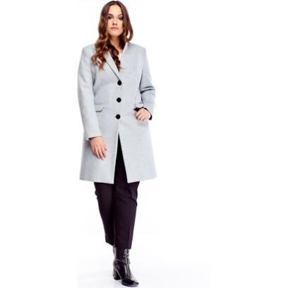 Jednorzędowy płaszcz w szarym kolorze