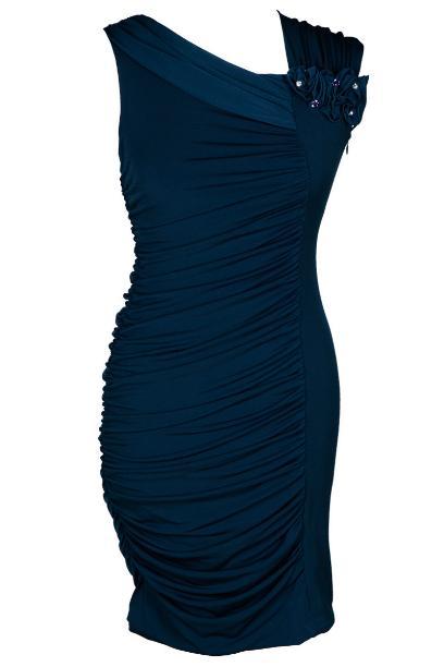 42f776430b Sukienka FSU198 GRANATOWY JASNY