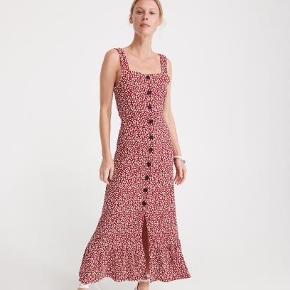 Długa sukienka w drobne kwiaty