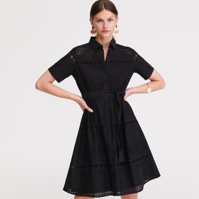 2. Ażurowa sukienka z kołnierzem