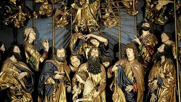 Ołtarz Wita Stwosza - scena Zaśnięcia Najświętszej Maryi Panny