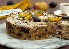 Sypane ciasto ze śliwkami i jabłkami. Wersja FIT dla liczących kalorie